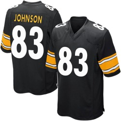 Nike Anthony Johnson Pittsburgh Steelers Men's Game Black Team Color Jersey