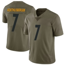 Nike Ben Roethlisberger Pittsburgh Steelers Men's Limited Green 2017 Salute to Service Jersey