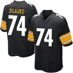 Nike Christian DiLauro Pittsburgh Steelers Men's Game Black Team Color Jersey