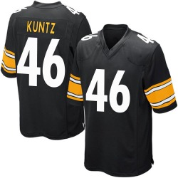 Nike Christian Kuntz Pittsburgh Steelers Youth Game Black Team Color Jersey