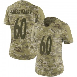 Nike J.C. Hassenauer Pittsburgh Steelers Women's Limited Camo 2018 Salute to Service Jersey
