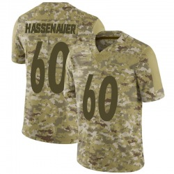 Nike J.C. Hassenauer Pittsburgh Steelers Youth Limited Camo 2018 Salute to Service Jersey