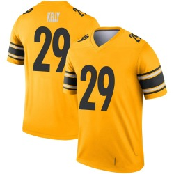 Nike Kam Kelly Pittsburgh Steelers Youth Legend Gold Inverted Jersey