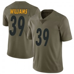 Nike Malik Williams Pittsburgh Steelers Men's Limited Green 2017 Salute to Service Jersey