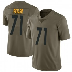 Nike Matt Feiler Pittsburgh Steelers Youth Limited Green 2017 Salute to Service Jersey
