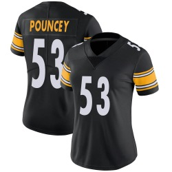 Nike Maurkice Pouncey Pittsburgh Steelers Women's Limited Black Team Color Vapor Untouchable Jersey