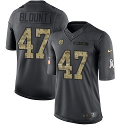 Nike Mel Blount Pittsburgh Steelers Youth Limited Black 2016 Salute to Service Jersey